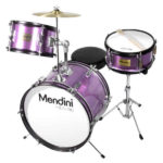 Mendini by Cecilio 16-inch 3-Piece Metallic Purple Junior drum set