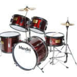 Mendini by Cecilio 16-inch 5-Piece Metallic Wine Red Junior drum set