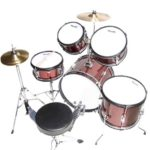 Top view of the MJDS-5-WR Drum set & Throne