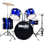 Mendini Drum Set Reviews - Image of the Mendini by Cecilio 22-inch 5-Piece Metallic Blue Adult Drum Set