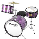 Mendini Drum Set Reviews - Image of the Mendini by Cecilio 16-inch 3-Piece Metallic Purple Junior Drum Set