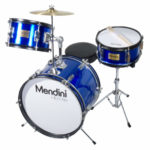 Mendini by Cecilio 16-inch 3-Piece Junior Drum Set In Metallic Blue