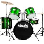 Mendini by Cecilio 22-inch 5-piece drum set in Metallic Green