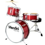 Image of the Mendini Drums Junior drum set 13-inch 3 piece in Bright Red