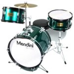 Image of the Mendini Drums Junior drum set 16-inch 3 piece in Green