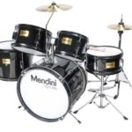 Image of the Mendini Drums Junior drum set 16-inch 5 piece in Black