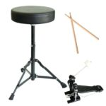 Throne - Drum sticks - Bass drum pedal - of the Mendini MDS80-BK