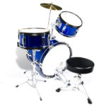 Top view of the MJDS-3-BL junior Drum set