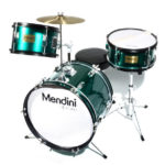 Mendini by Cecilio 16-inch 3-Piece Junior Drum Set In Metallic Green