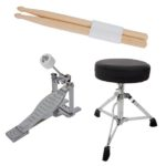 Throne, Drum sticks & Bass drum pedal of the MJDS-1-GN
